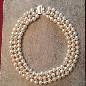pearl three strand necklace